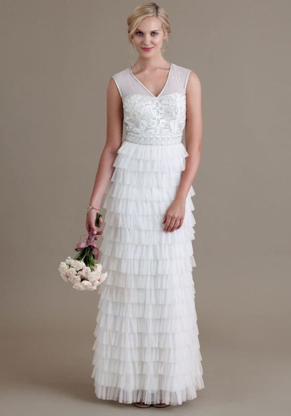 Vintage Wedding Dress Under 500- Ruche