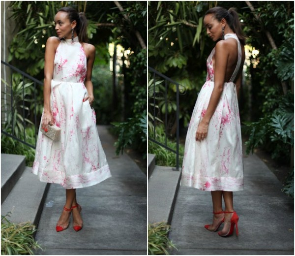 White Zimmerman Dress- Ashley Madekwe