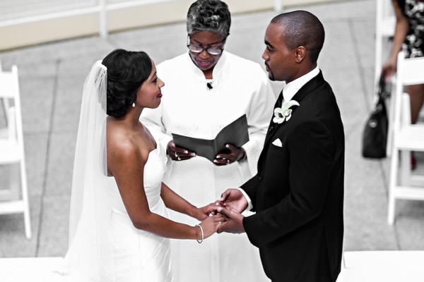 Modern Black and White Museum Wedding 31