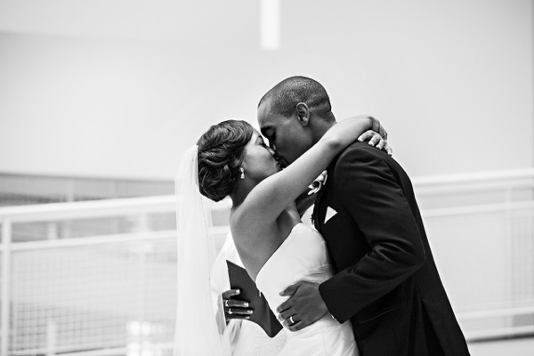 Modern Black and White Museum Wedding 37