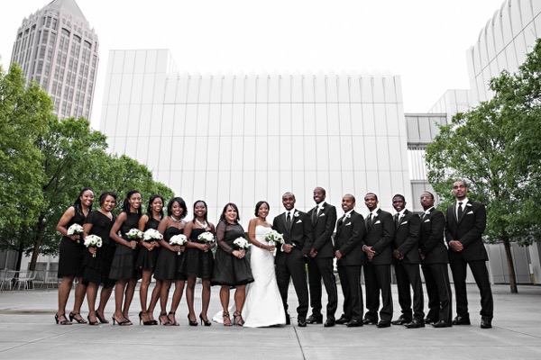 Modern Black and White Museum Wedding 41