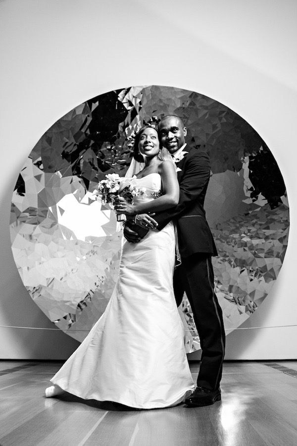 Modern Black and White Museum Wedding 45