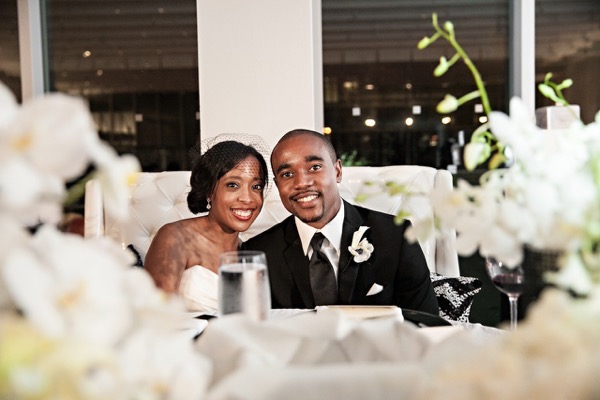 Modern Black and White Museum Wedding 60