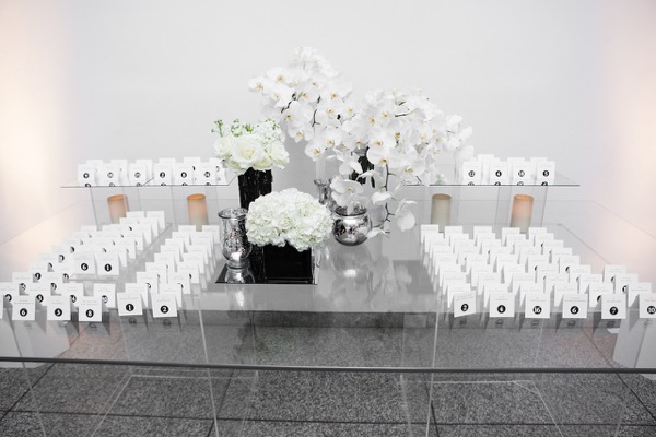 Modern Black and White Museum Wedding 77