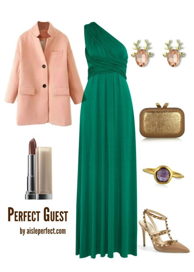 Peach and Emerald Wedding Guest-1