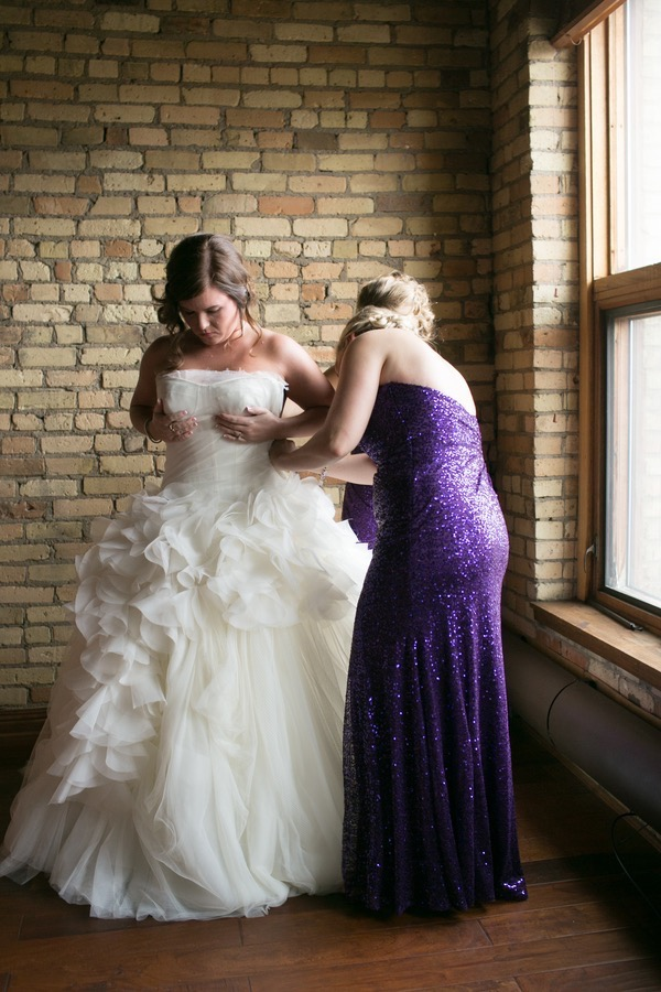 Sparkly Purple and Gold Wedding 12