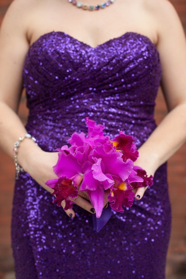 Sparkly Purple and Gold Wedding 36