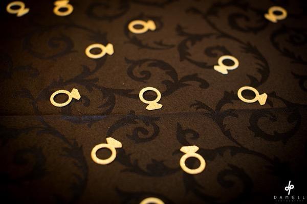 34 Black and Gold Glitter Bridal Shower