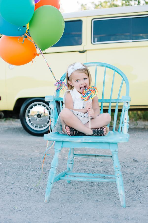 Colorful VW Bus Family Session 19