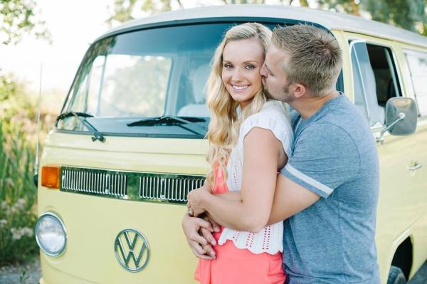 Colorful VW Bus Family Session 20