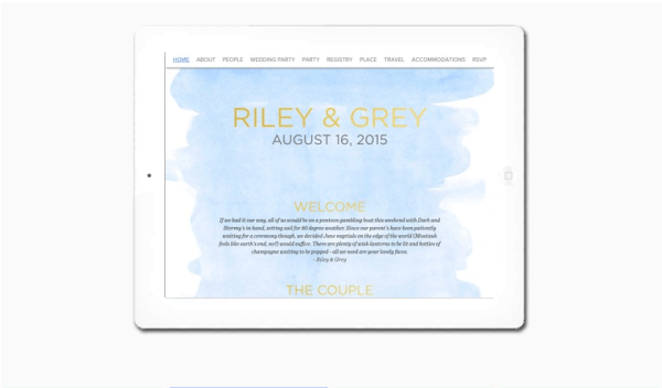 Luxury Wedding Websites by Riley & Grey