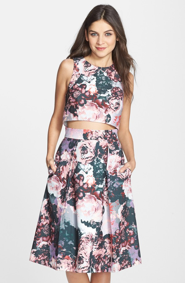 Clove Floral Print Two-Piece Dress, $168 at Nordstrom.