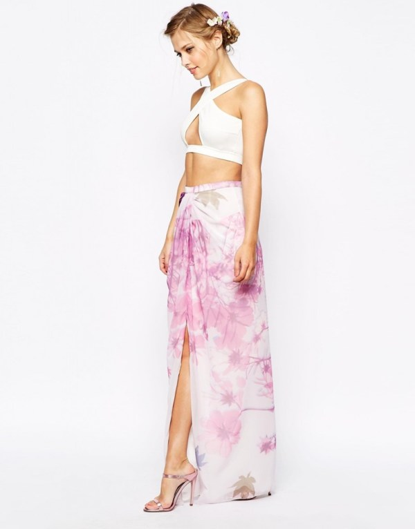 Crop Top Summer Bridal shower outfit by vlabel london