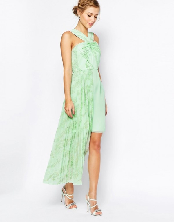 Mint Print Bridal Shower Summer Outfit