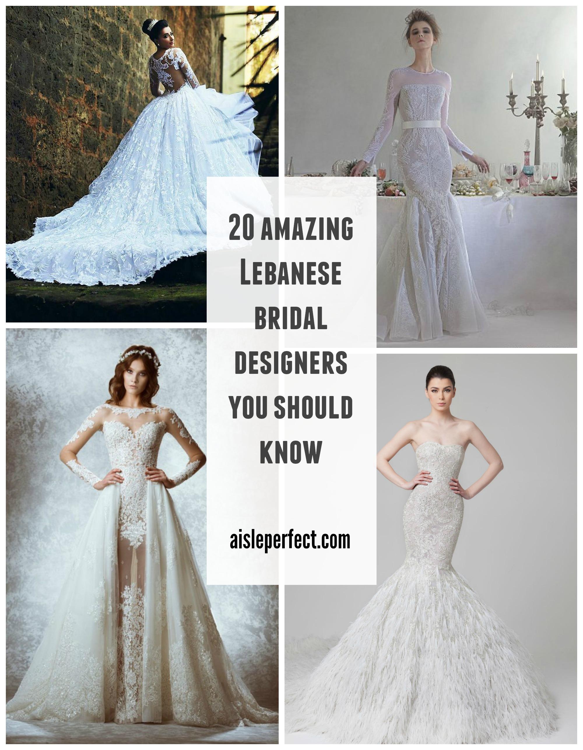 20 Pretty Perfect Lebanese Wedding Designers Perfete