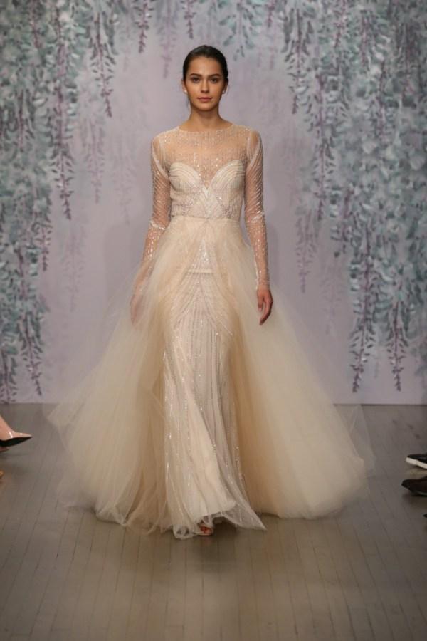 Monique Lhuillier Fall 2016 Bridal - Look 7