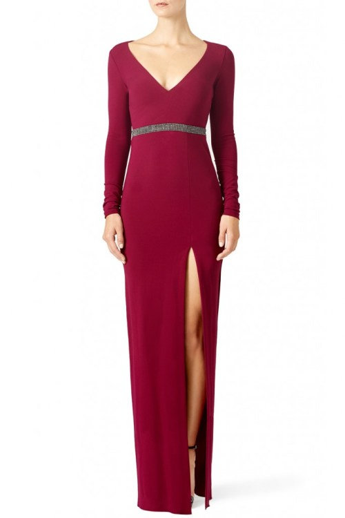 Nicole Miller Red Berry Gown