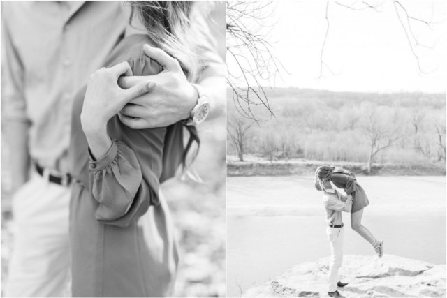 Beautiful outdoor engagement shoot
