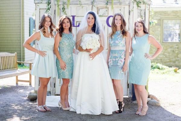 Blue mix match bridesmaids -New Jersey Real Wedding-10