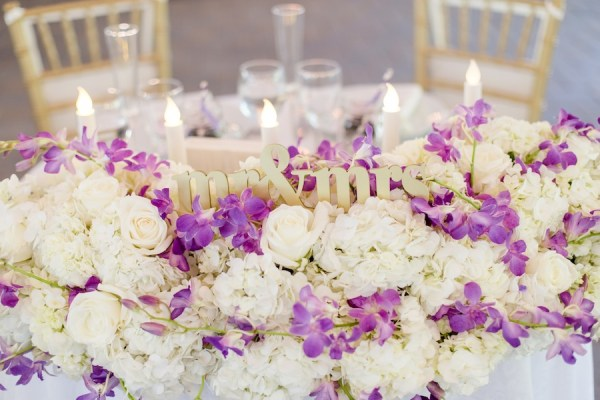 New Jersey Real Wedding-floral sweetheart table