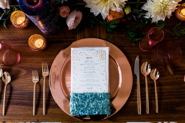 Rustic Glam Mint and Gold Wedding Inspiration with Minted 3