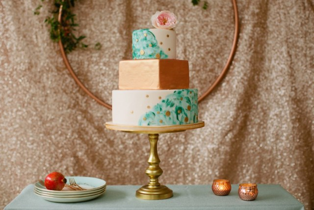 Rustic Glam Mint and Gold Wedding Inspiration with Minted 73