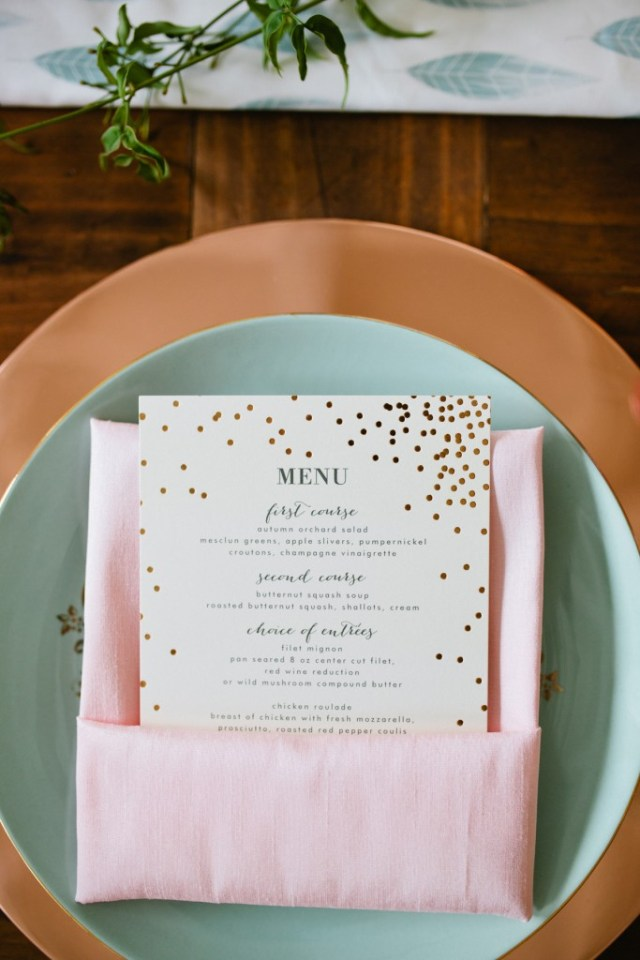 Rustic Glam Mint and Gold Wedding Inspiration with Minted 78