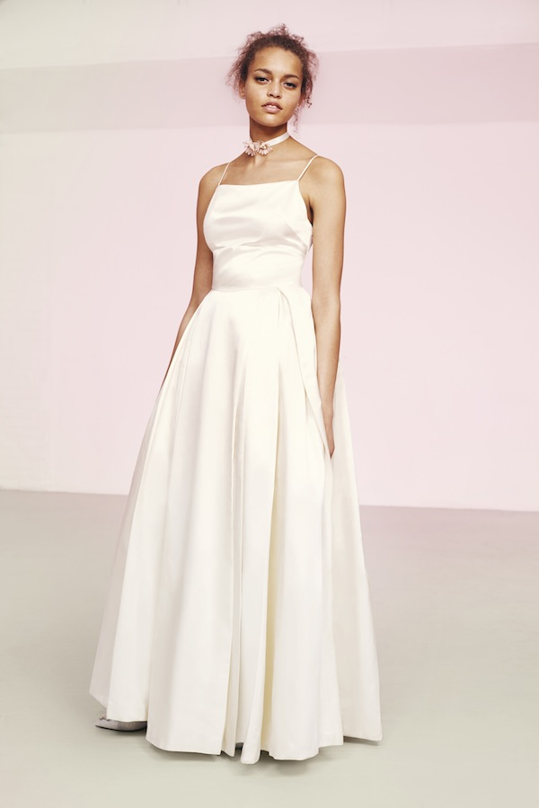 strap wedding gown from asos wedding shop