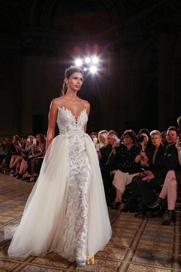 Berta Bridal Overskirt Wedding Dress