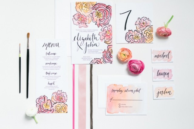 Spring Watercolor Wedding Inspiration 20