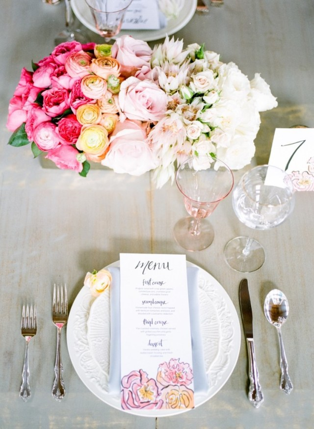 Spring Watercolor Wedding Inspiration 33