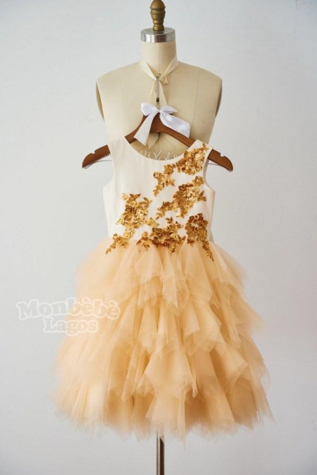 orange-gold-sequin-champagne-tulle-flowergirl-dress