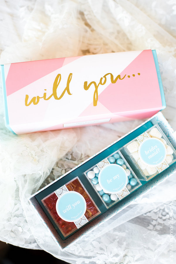 will you be my bridesmaid gifts curated by pretty perfect packages