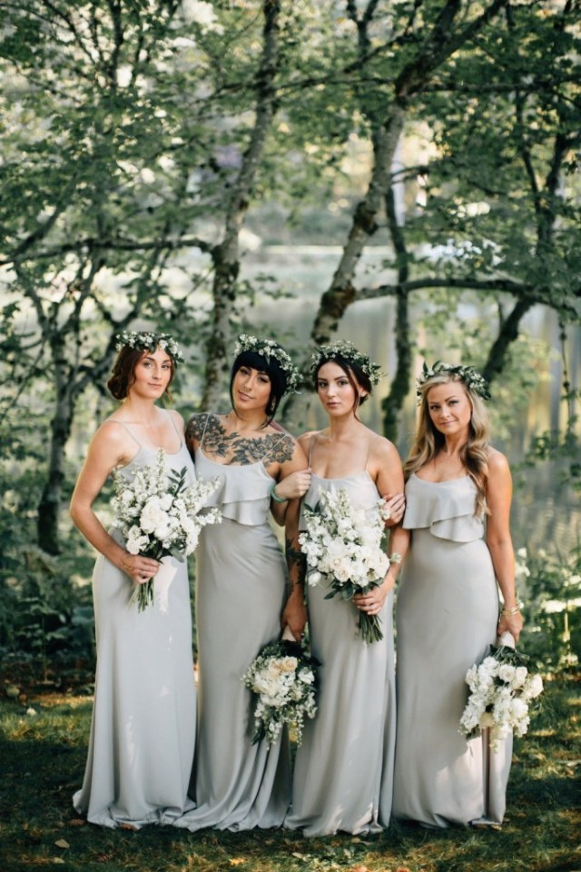 grey-silver-bridesmaids-dresses