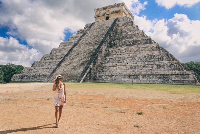 Mayan pyramids in Tulum Mexico