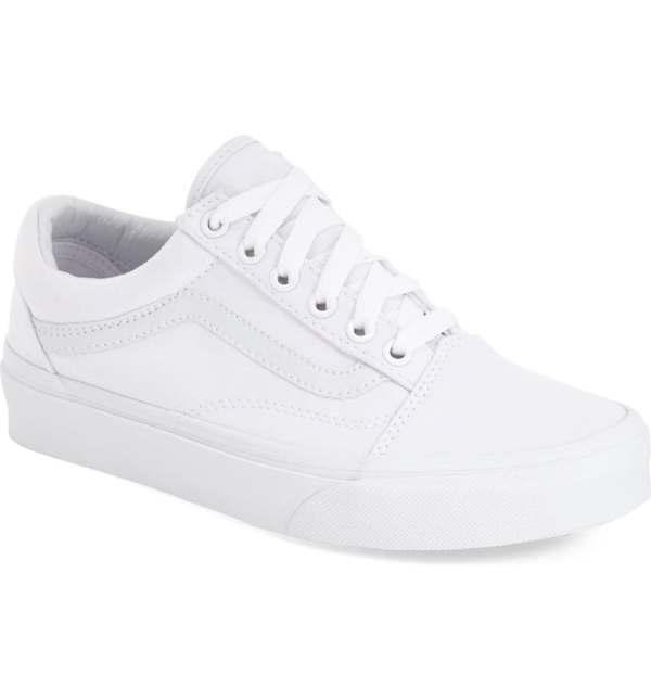 Vans white sneakers