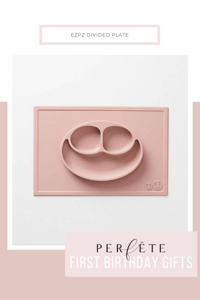 toddler birthday 1 year old gift inspiration pink ezpz silicone divided plate mat easy toddler feeding