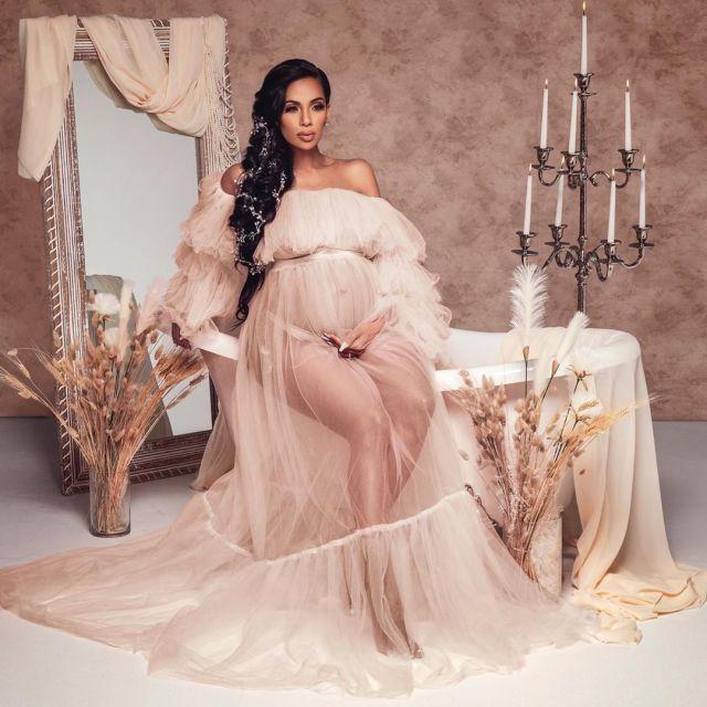 erica mena neutral maternity shoot by mr guerra