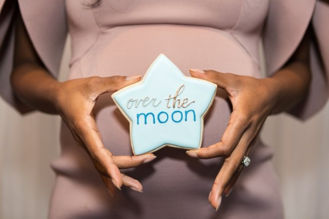over the moon baby shower