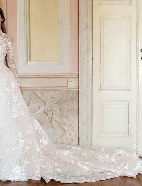 A Colorful Wedding: Monique Lhuillier Fall 2020 Bridal Collection-1
