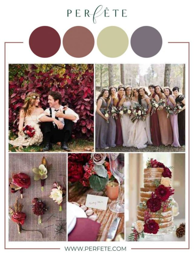 pomegranate and fig wedding colors