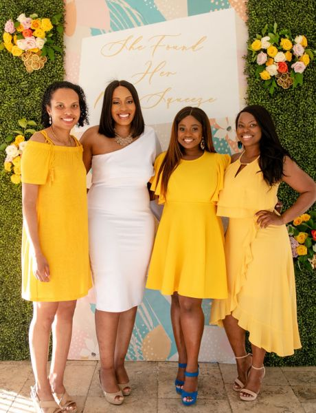 Chic Lemon Themed Bridal Shower-29