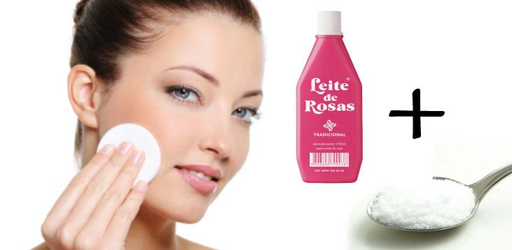 Como fazer limpeza de pele: leite de rosas com bicarbonato