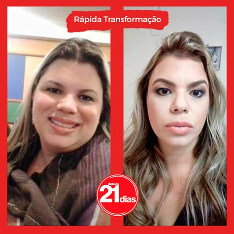 Resultado antes e depois: Dieta de 21 dias
