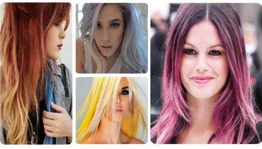 Cabelos coloridos: fotos e modelos