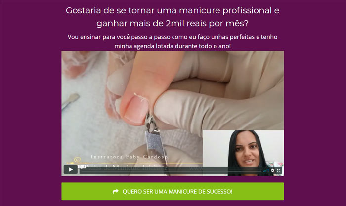 Site oficial do curso de manicure