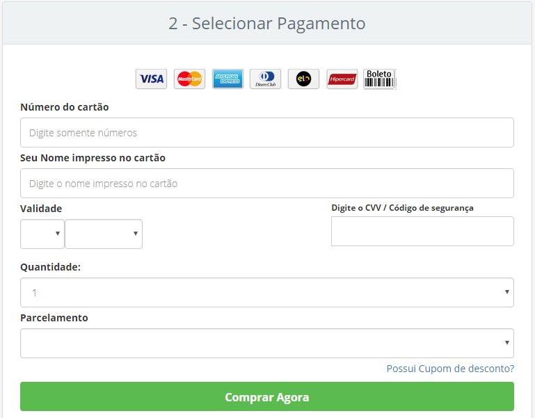 Como comprar: formas de pagamento