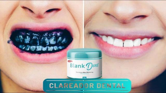 Produto preto que clareia os dentes