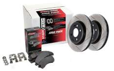 STOPTECH 937.42509 STREET AXLE PACK SLOTTED ROTORS 2 WHEEL KIT (Rear)