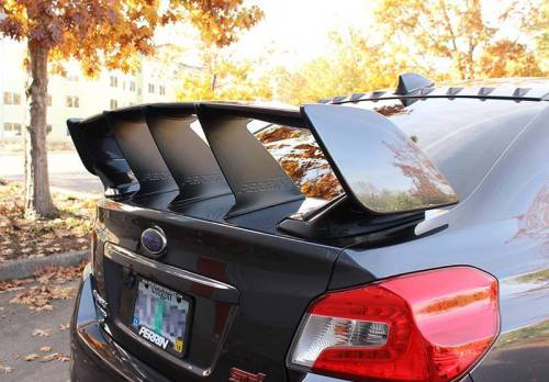 PERRIN Wing Stabilizer Black– Subaru STI 2015+